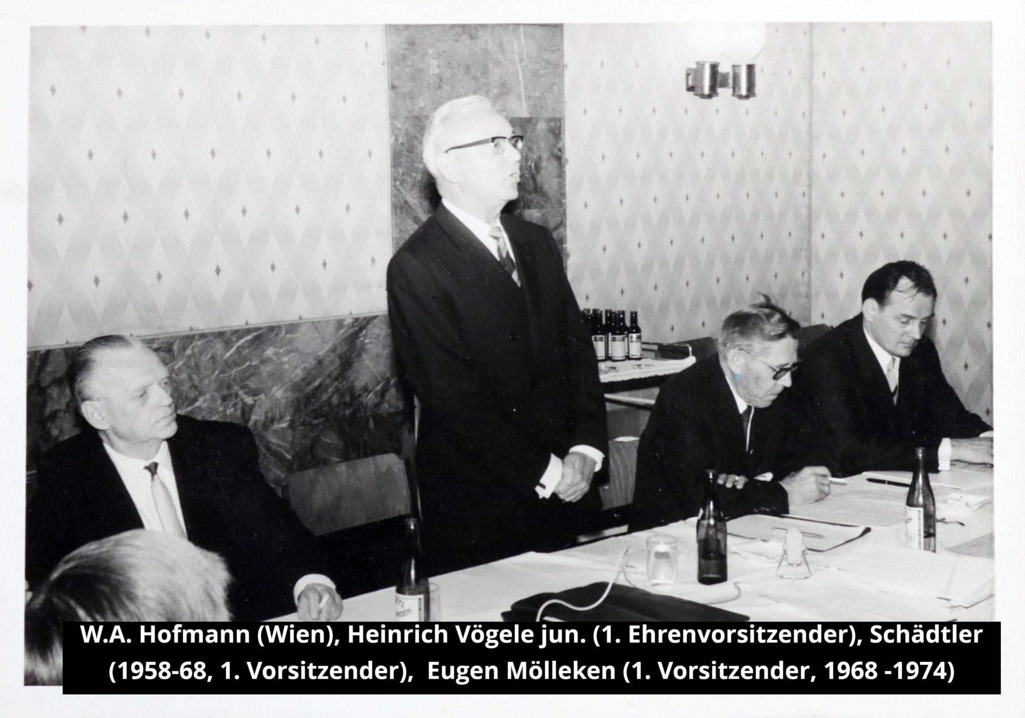 Führungskräfte der GfA 1968
